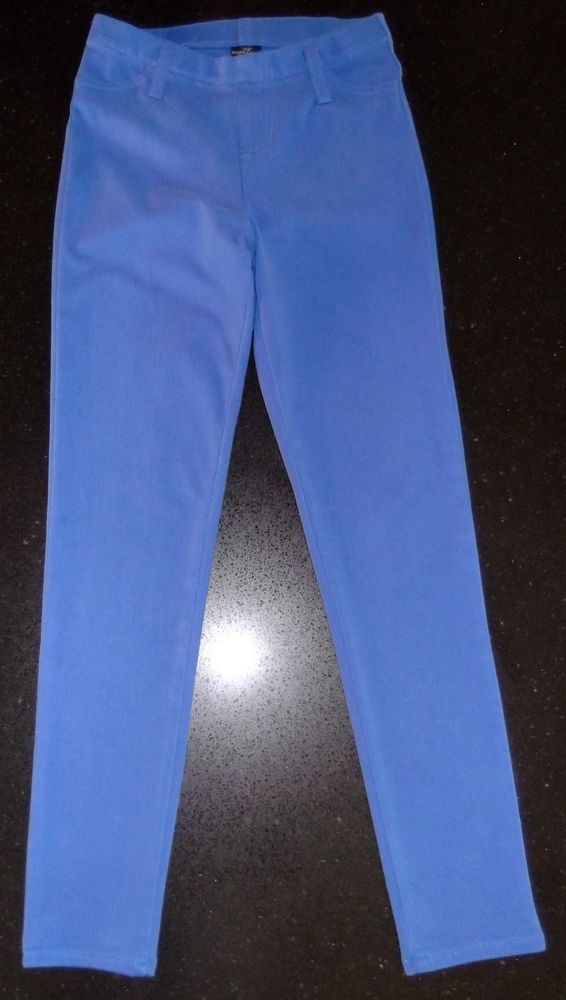Blue Polyester Skinny Leg Stretch Jegging Legging Pant Size 7% Spand XS 0-2 EUC* #FadedGlory