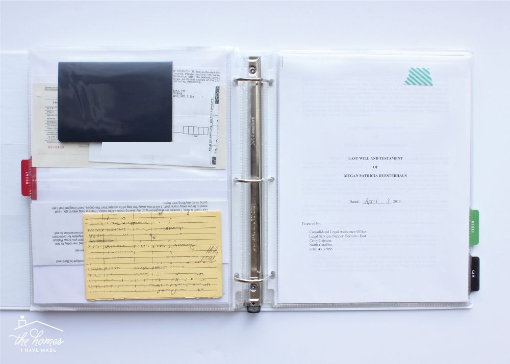 How to Organize Paperwork | Part 5: Creating an Important Documents Binder | The Homes I Have Made