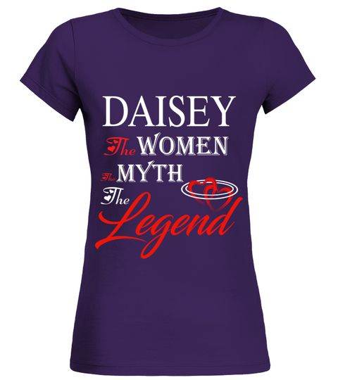 # DAISEY THE MYTH THE WOMEN THE LEGEND .  DAISEY THE MYTH THE WOMEN THE LEGEND  A GIFT FOR THE SPECIAL PERSON  It's a unique tshirt, with a special name!   HOW TO ORDER:  1. Select the style and color you want:  2. Click Reserve it now  3. Select size and quantity  4. Enter shipping and billing information  5. Done! Simple as that!  TIPS: Buy 2 or more to save shipping cost!   This is printable if you purchase only one piece. so dont worry, you will get yours.   Guaranteed safe and secure…