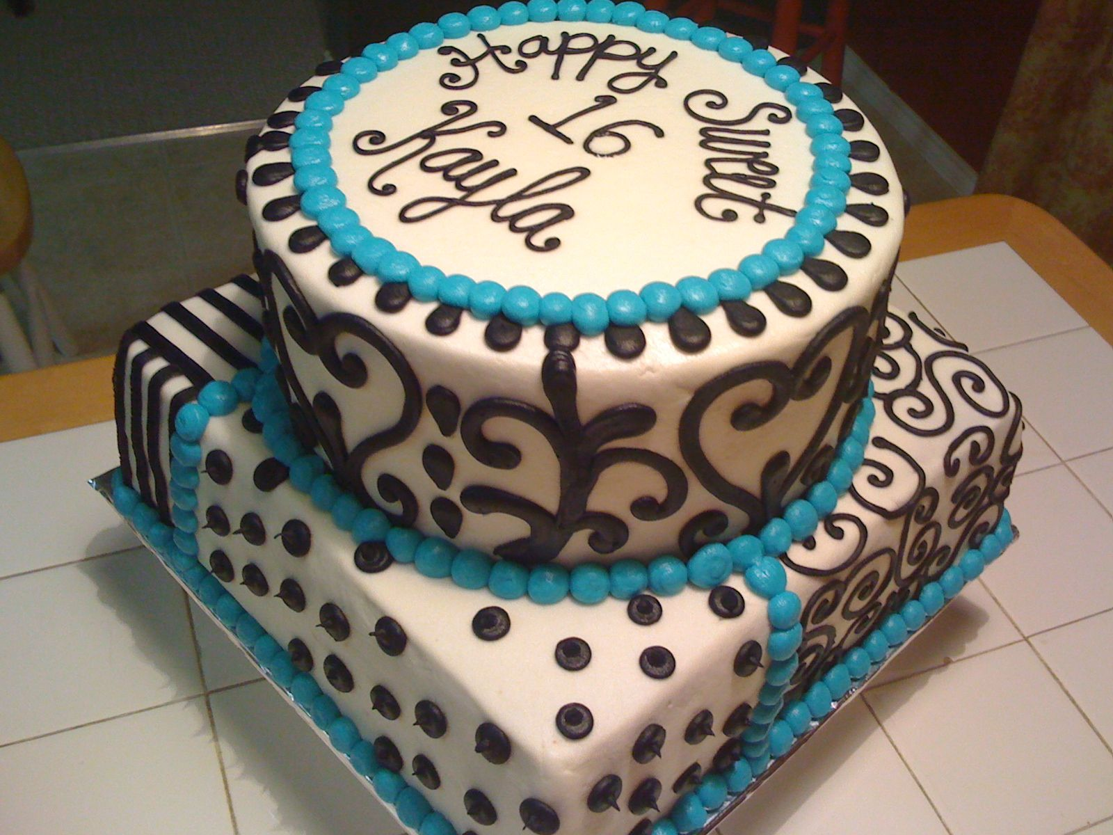 Square Two Layer Sweett 16 Cake 12 Inch Double Layer Square