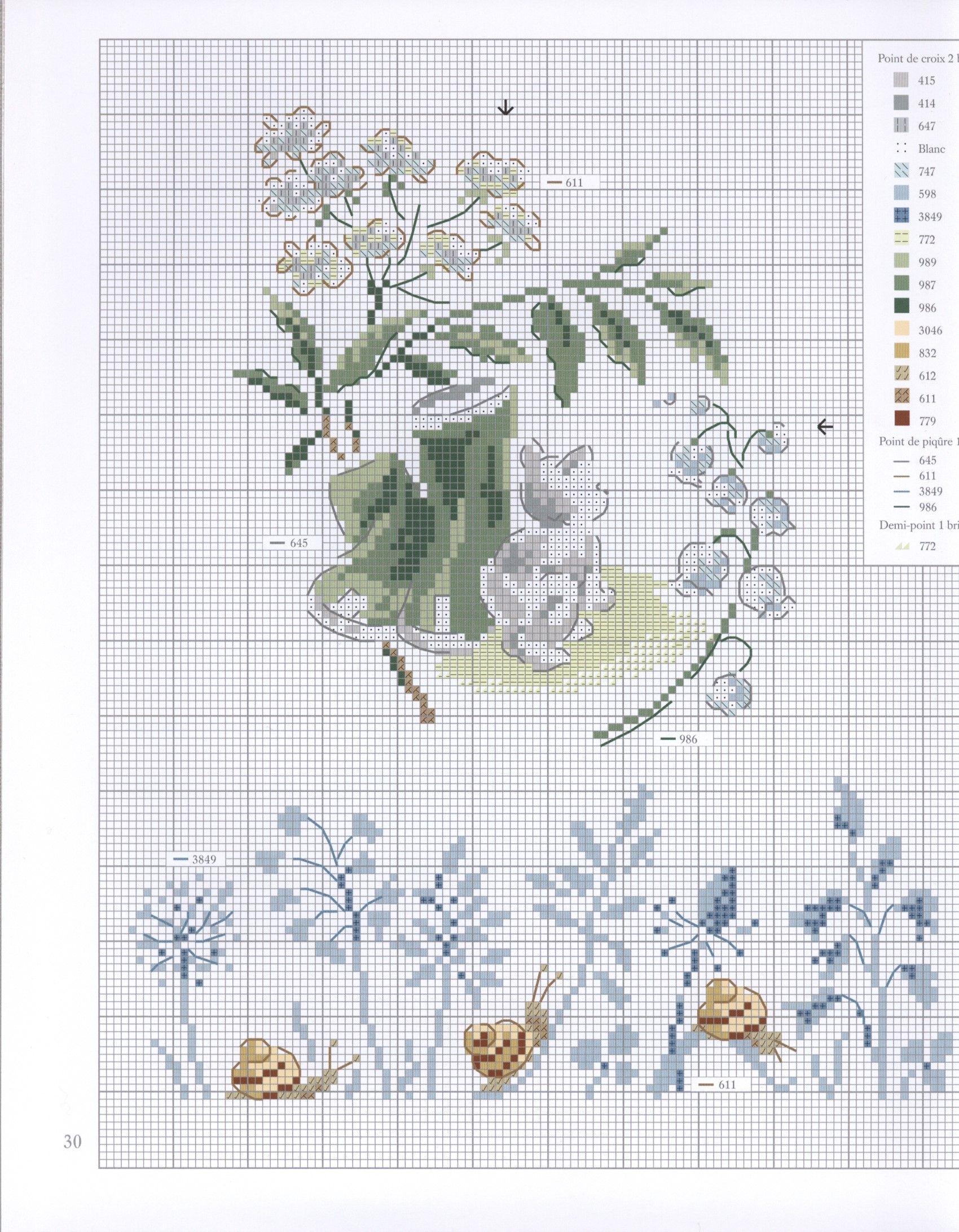 grilles de point de croix pinterest mon jardin veronique engin. Black Bedroom Furniture Sets. Home Design Ideas