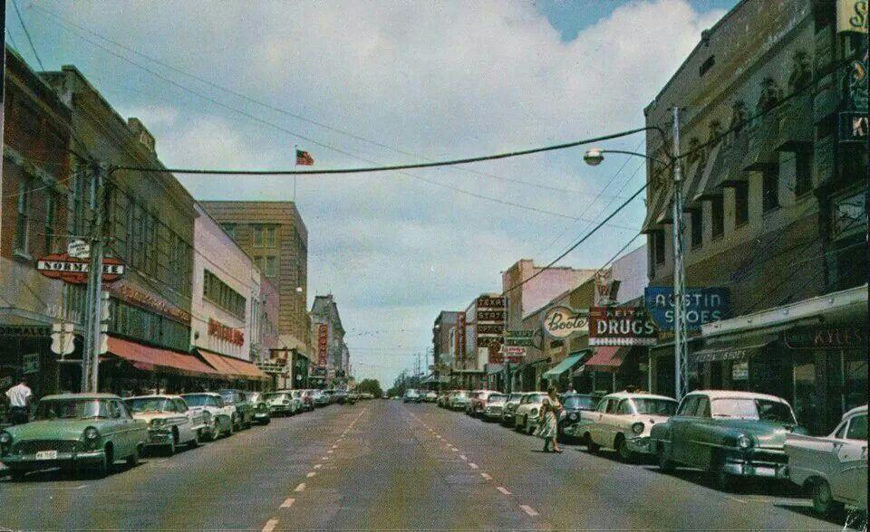 Downtown Sherman Tx 1940 Or 50s Sherman Texas In 2019