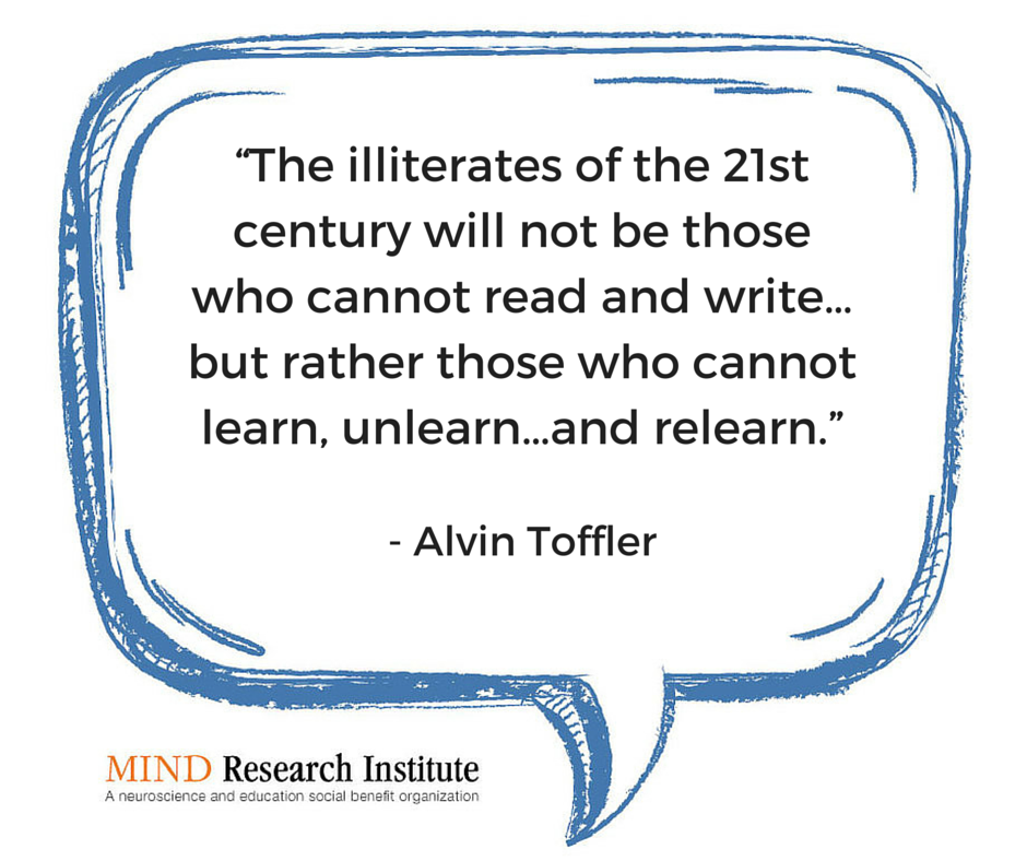 21st Century Skills Quote From Alvin Toffler Education Quotes For