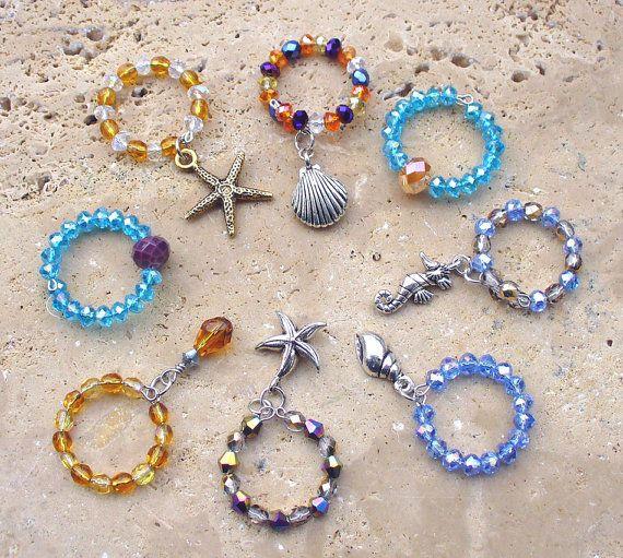 Bling Bling Beautiful Seashore Stemware by KipajiPraiseJewelry
