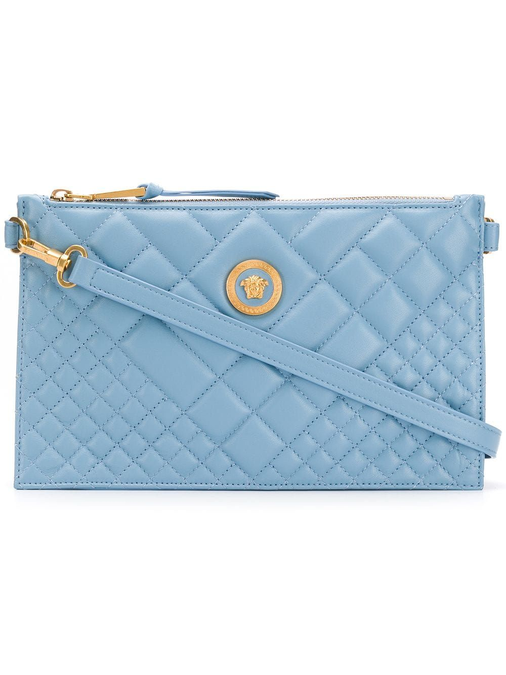 8dc3f062a1 Versace quilted Medusa clutch bag - Blue | Products in 2019 ...