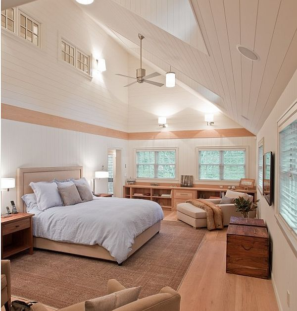 Creative Ideas For High Ceilings Vaulted Ceiling Bedroom High Ceiling Bedroom Eclectic Bedroom