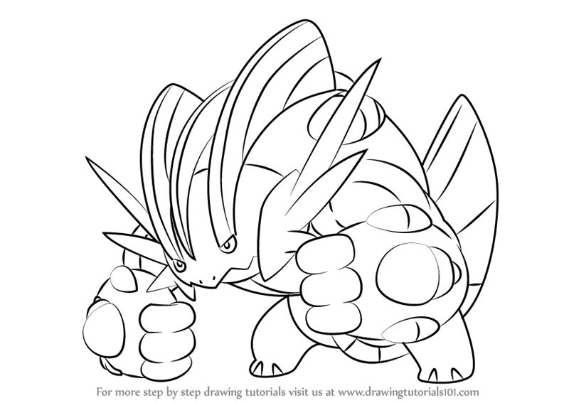 Learn How To Draw Mega Swampert From Pokemon Pokemon Step By Step Drawing Tutorials Y Tưởng Vẽ Y Tưởng Tượng