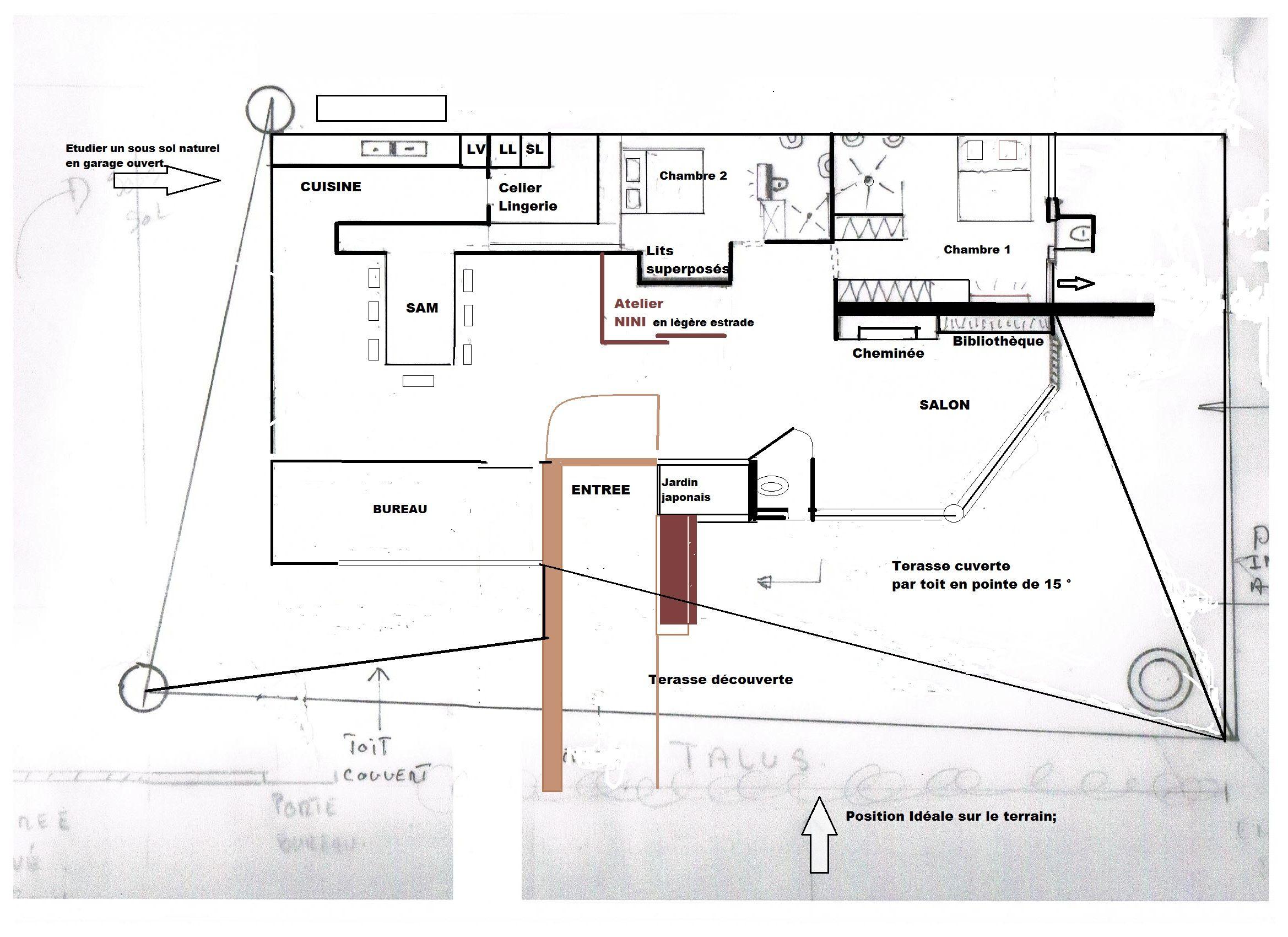 plan du projet avec pilier mtal - Plan Maison Structure Metallique