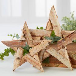 Natural Birch Bark Star Set - Coastal Decor - Home Decor