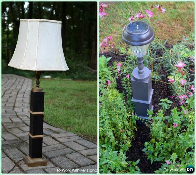DIY Solar Light Craft Ideas For Home and Garden Lighting | Diy solar ...