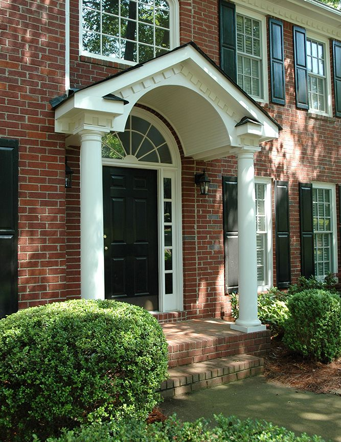 Arched Gable Portico Designed And Built By Georgia Front