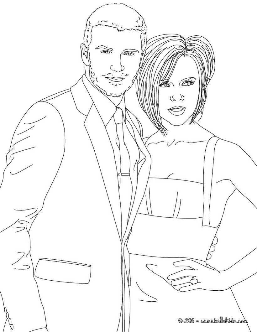 Print this david and victoria beckham coloring page out or color in