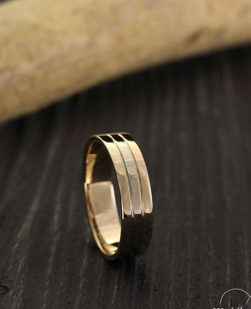 Exclusive Minimalist Unisex Wedding Ring Made In 14k Yellow Etsy In 2021 Minimalist Wedding Rings Classic Wedding Rings Mens Wedding Bands