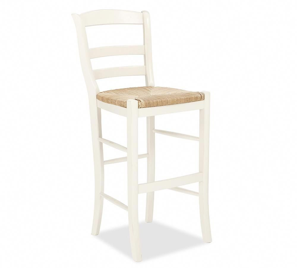 Isabella Barstool Counter Height Antique White Wood Bar Stools