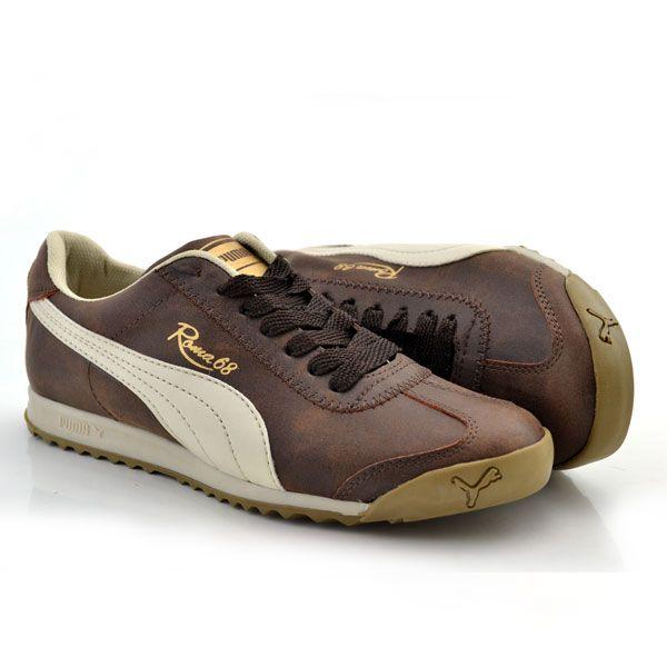 Puma Roma 68 Kahverengi Bej Bayan Ayakkabi Spor Nelazimsa Net Womens Athletic Shoes Athletic Shoes Nike Sport Shoes