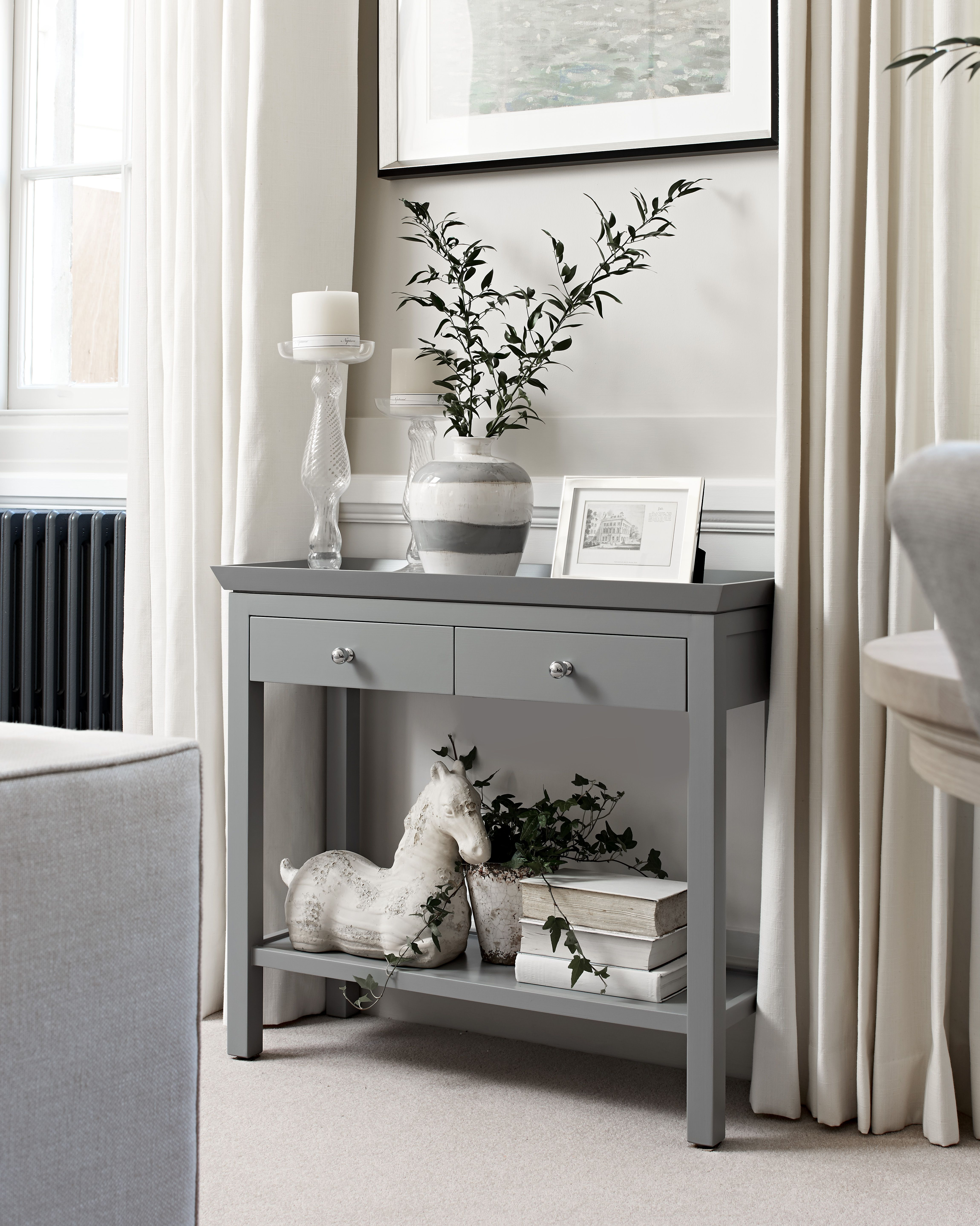 Neptune Aldwych Console Table Small Warm Black Living Black