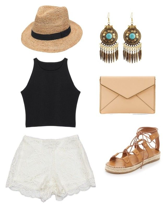 """""""Beach Day"""" by checkitm on Polyvore featuring Sans Souci, Charlotte Stone, Gottex and Rebecca Minkoff"""