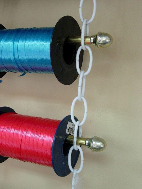 How To Make An Easy Hanging Ribbon Organizer Ribbon Organization