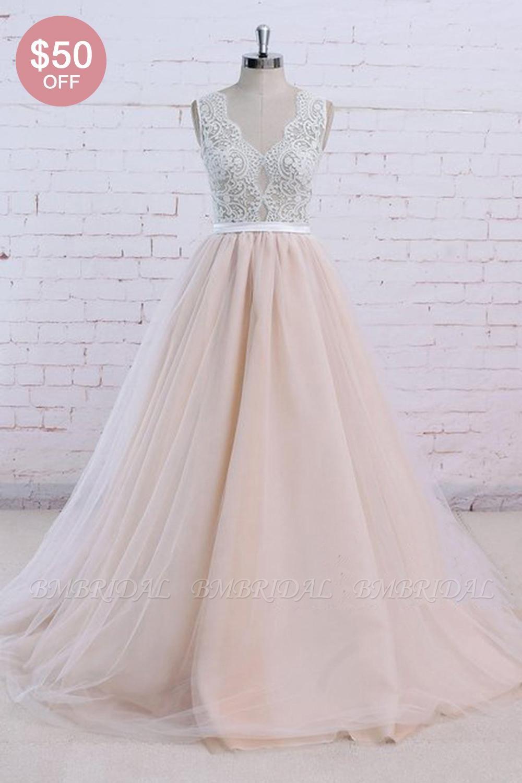 Bmbridal Affordableblush Pink Tulle Wedding Dress Ivory Lace V Neck Vintage Bridal Gowns On Sale Bridal Gowns Vintage Wedding Dresses Blush Blush Pink Wedding Dress [ 1500 x 1000 Pixel ]