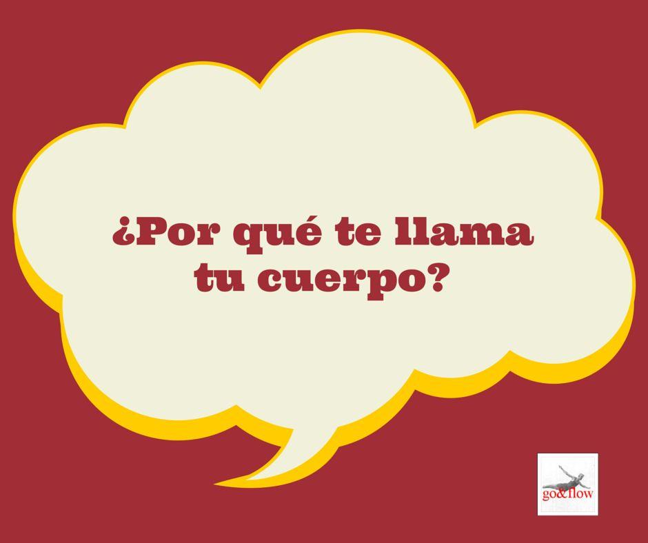 Sigue el Blog Go&Flow #salud http://www.goandflow.es/por-que-te-llama-tu-cuerpo/ Mas? El ebook Del Amor a la Zeta http://www.amazon.com/gp/aw/d/B00KOWUSX8?ie=UTF8&redirectFromSS=1&pc_redir=1414281979&noEncodingTag=1&robot_redir=1