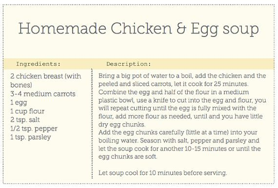 Editable Recipe Card 4x6 card downloadable by OhEverythingHandmade - recipe card