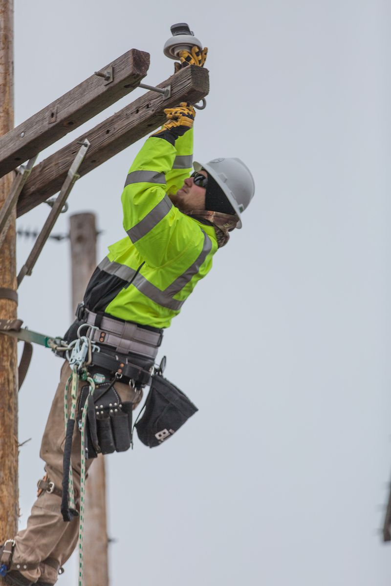 The electrical line technician program at Northern
