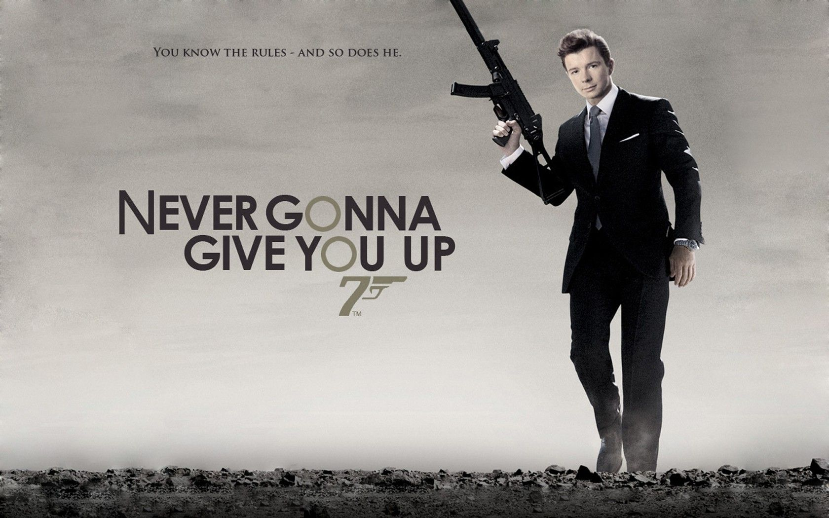 I Always Love How The Words Make The Logo Rick Astley Rick Astley Never Gonna James Bond Movie Posters