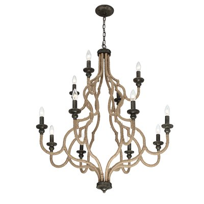 Gracie Oaks Ito 12 Light Candle Style Tiered Chandelier Bronze Chandelier Chandelier Chandelier Lighting