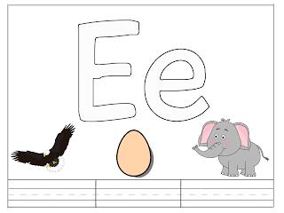 أنشطة اوراق عمل للحروف الانجليزية للاطفال Letter E Lettering Letter E Kindergarten