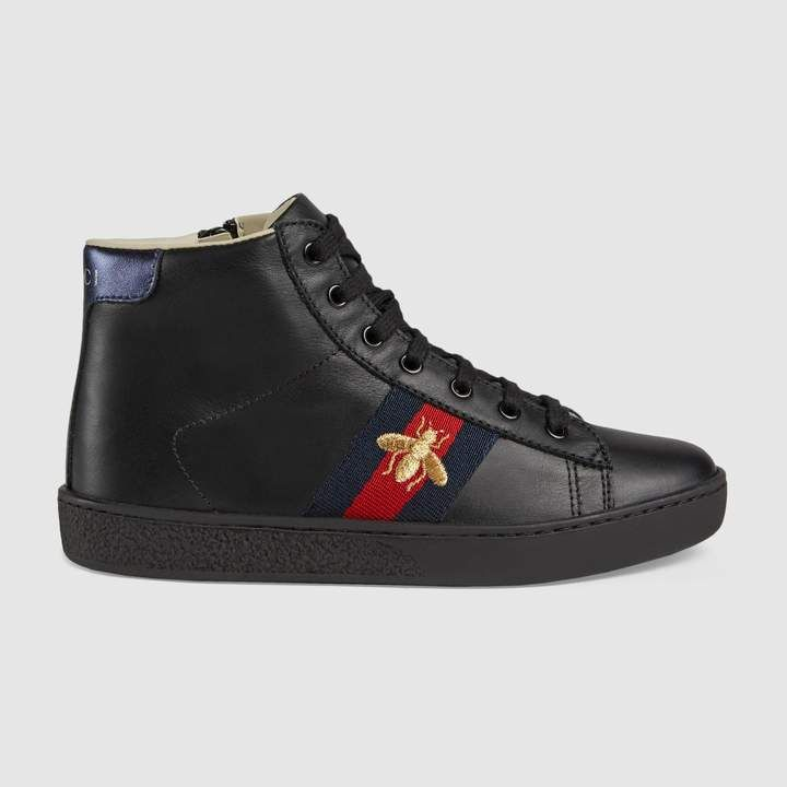 644adae3748 Gucci Children s leather high-top sneaker