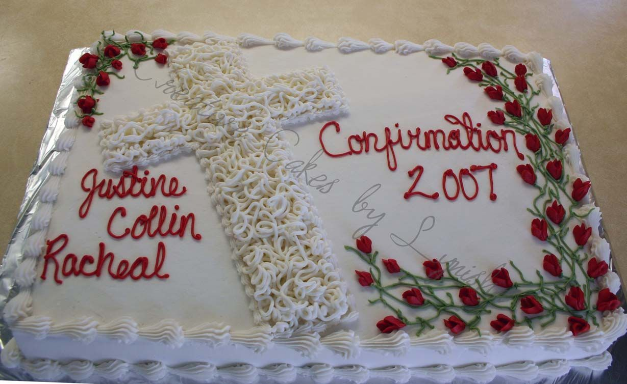 Confirmation Cake With Images Confirmation Cakes Cake Cross