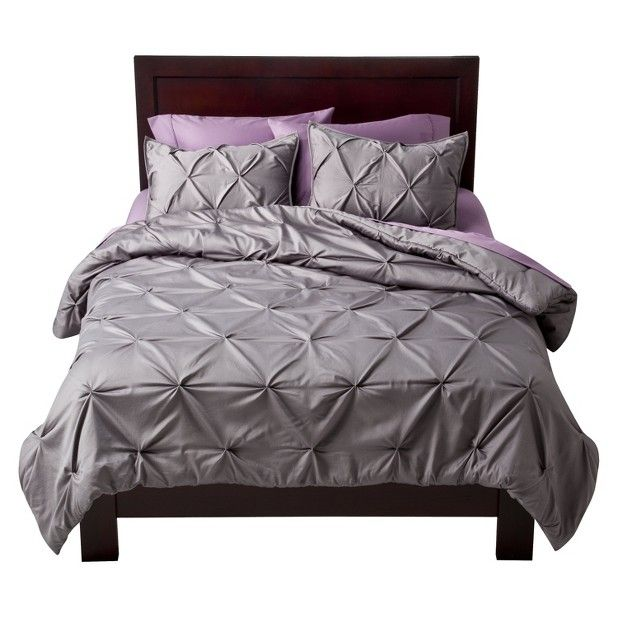 Love the gray and purple bedding. Now it needs a different textured ...