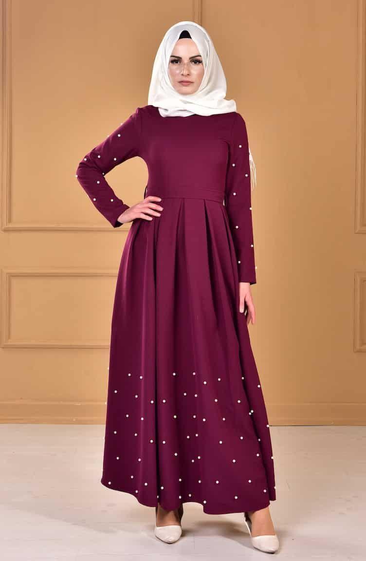 فساتين سهرة للمحجبات 2020 اجمل فساتين سواريه محجبات Fashion Hijab Fashion Dresses