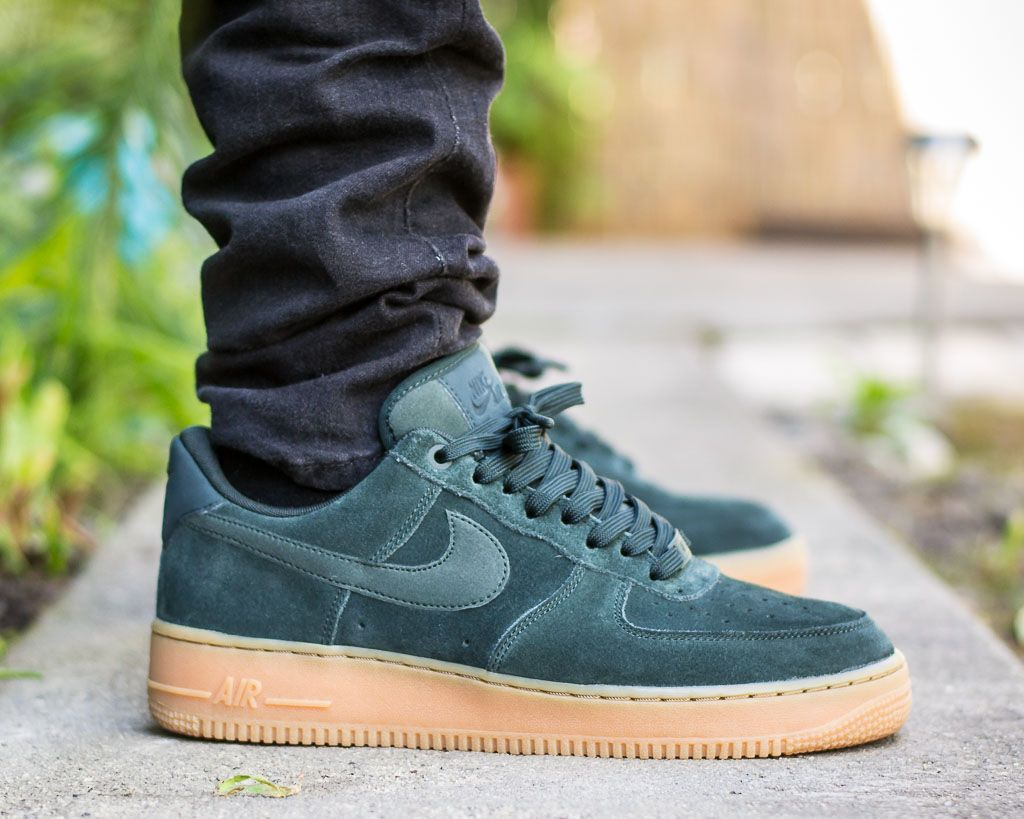 Nike Air Force 1 Outdoor Green On Feet