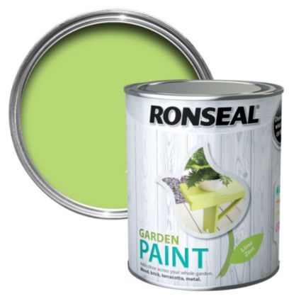 Ronseal Lime Zest Matt Garden Paint 750ml: Image 1   Garden   Pinterest