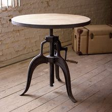 Industrial Adjustable Bistro Table