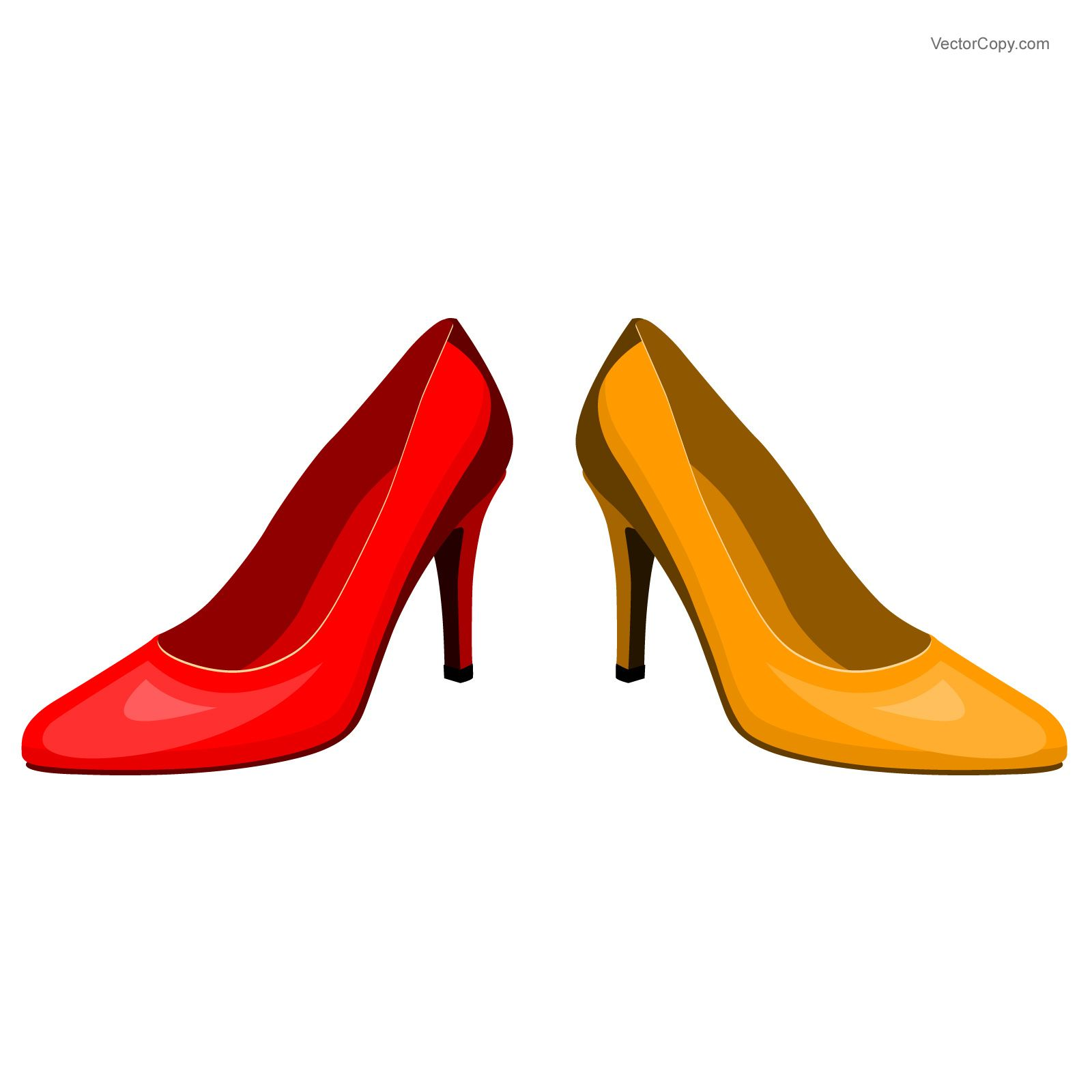 High heel shoe, download free vector images, by VectorCopy
