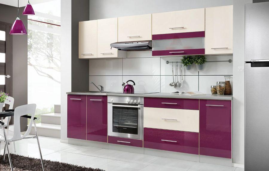 Details zu Einbauküche Küchenzeile Küchenmöbel Küchenset Hochglanz
