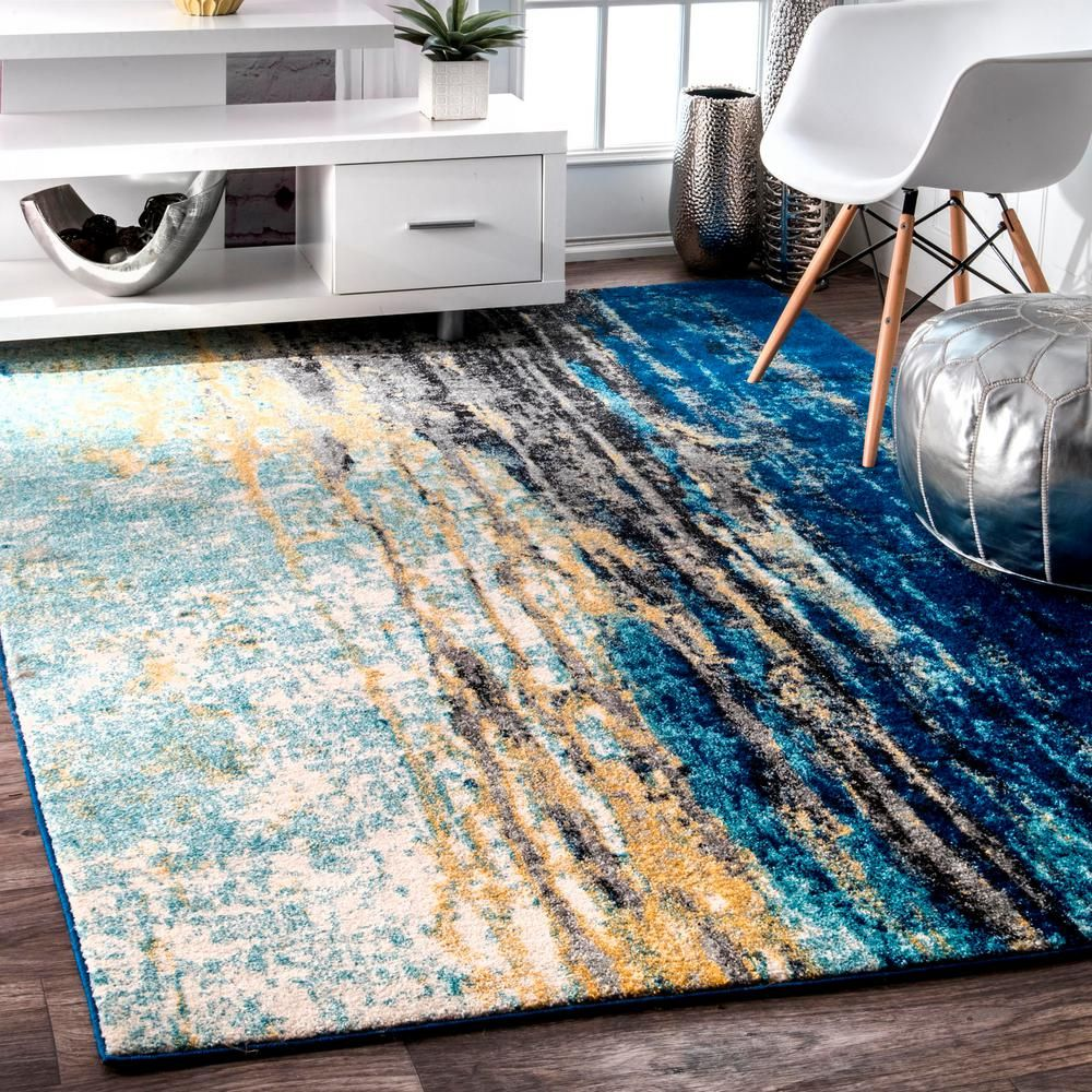 Nuloom Katharina Blue 12 Ft X 15 Ft Area Rug Rzbd04a 12015 The Home Depot Vintage Area Rugs Area Rugs For Sale Cool Rugs