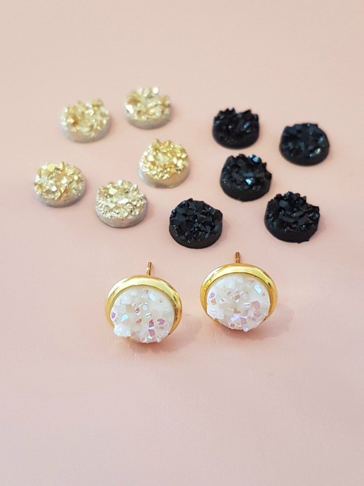 1b5337081 How to Make Druzy Earrings {EASY tutorial} | accessories | Diy druzy ...