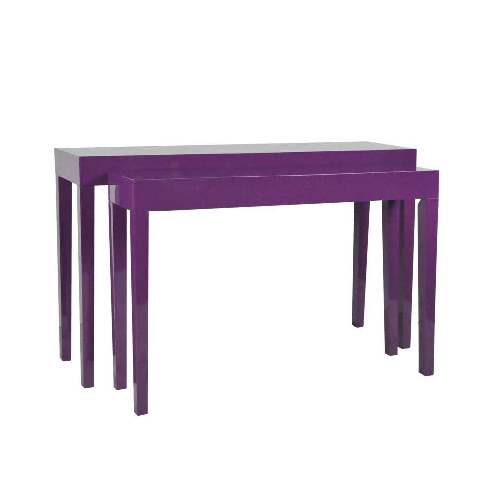 Tisch set in lila hochglanz modern 2 teilig jetzt bestellen unter https