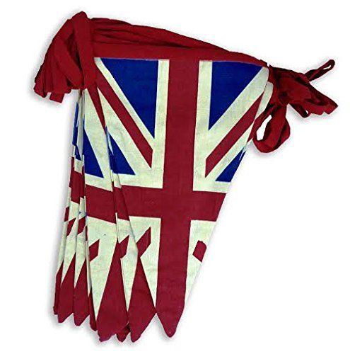 £5.95 EHC 5 m 100 Percent Cotton Double Sided Vintage Style Union Jack Festival Bunting, Blue EHC http://www.amazon.co.uk/dp/B00TYEVS4K/ref=cm_sw_r_pi_dp_-daexb1PEVM47