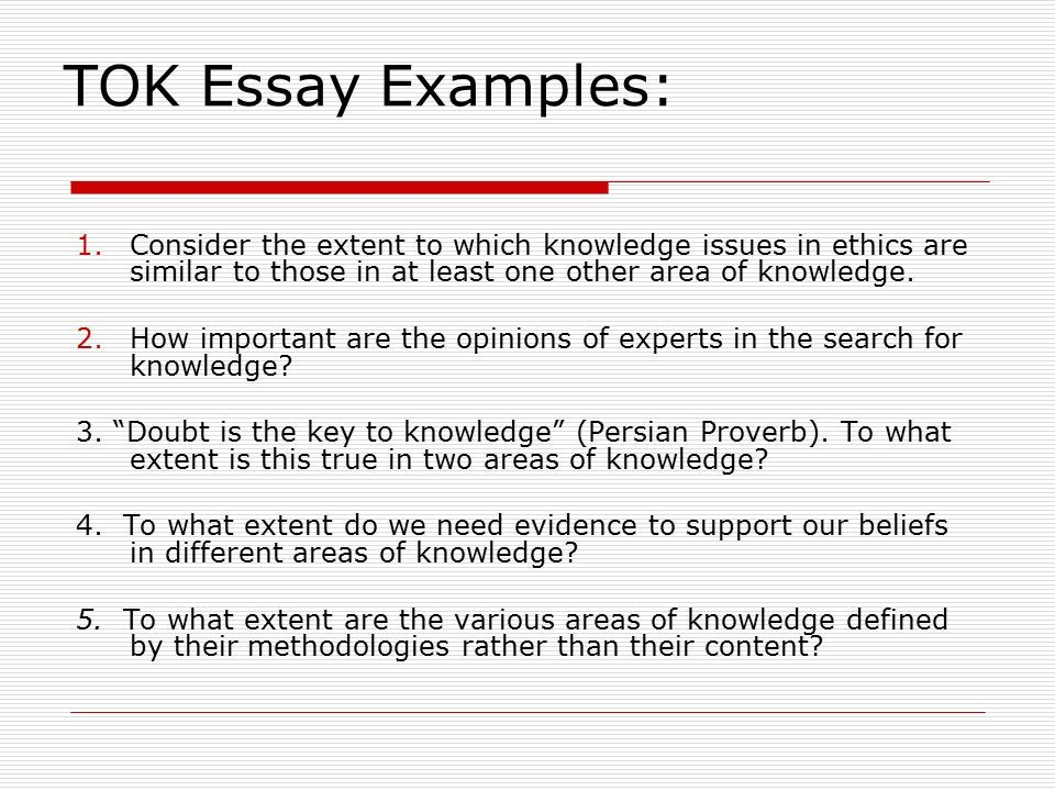 Doubt Is The Key To Knowledge Tok Essay History  The Best