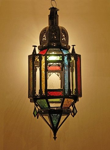 Moroccan lamp from Casa Andulas.  Mmmmm - would look fab in the conservatory, especially from outside...