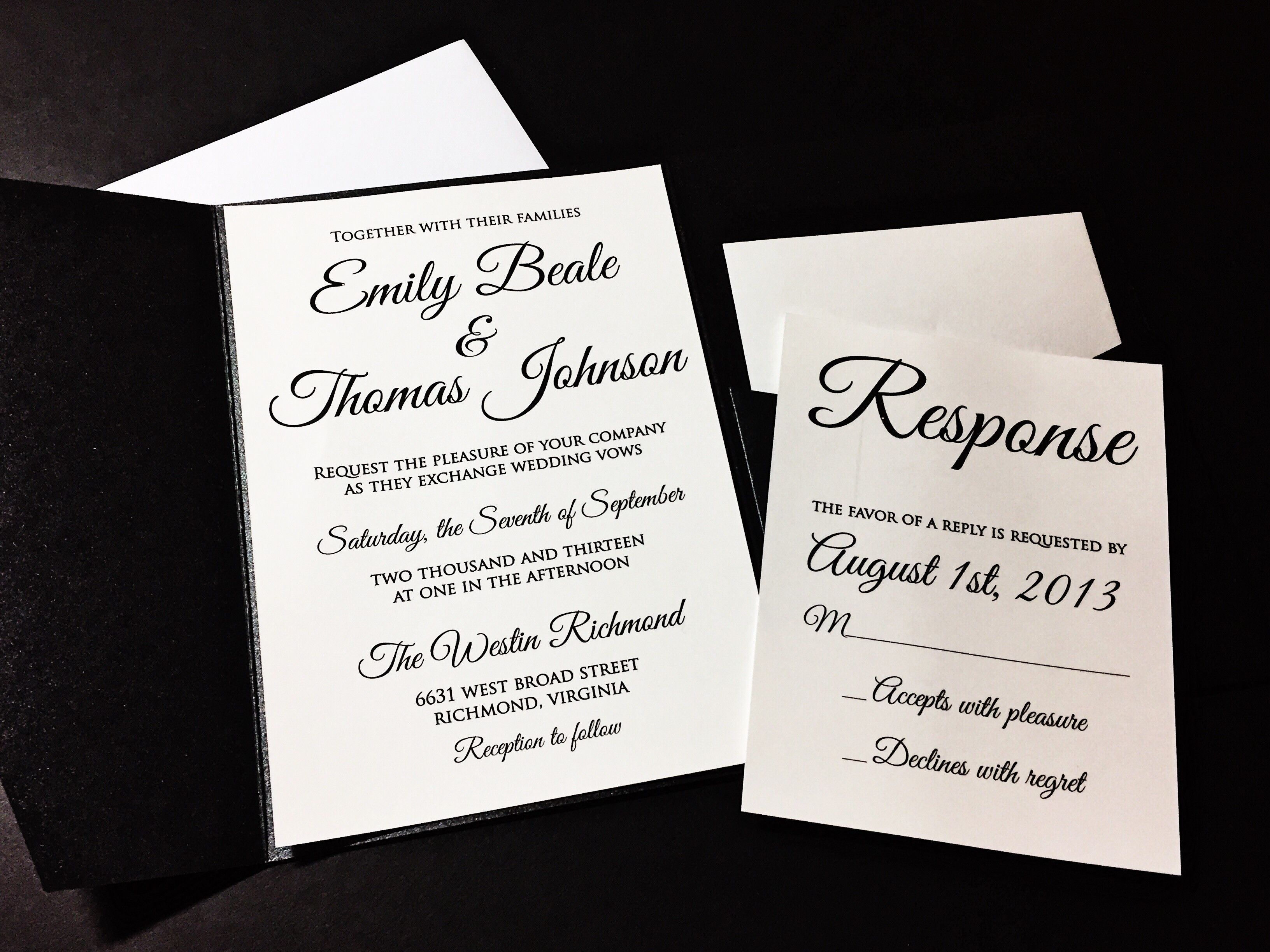 Pocketfold Wedding Invitation, Classic Wedding Invitation - EMILY ...