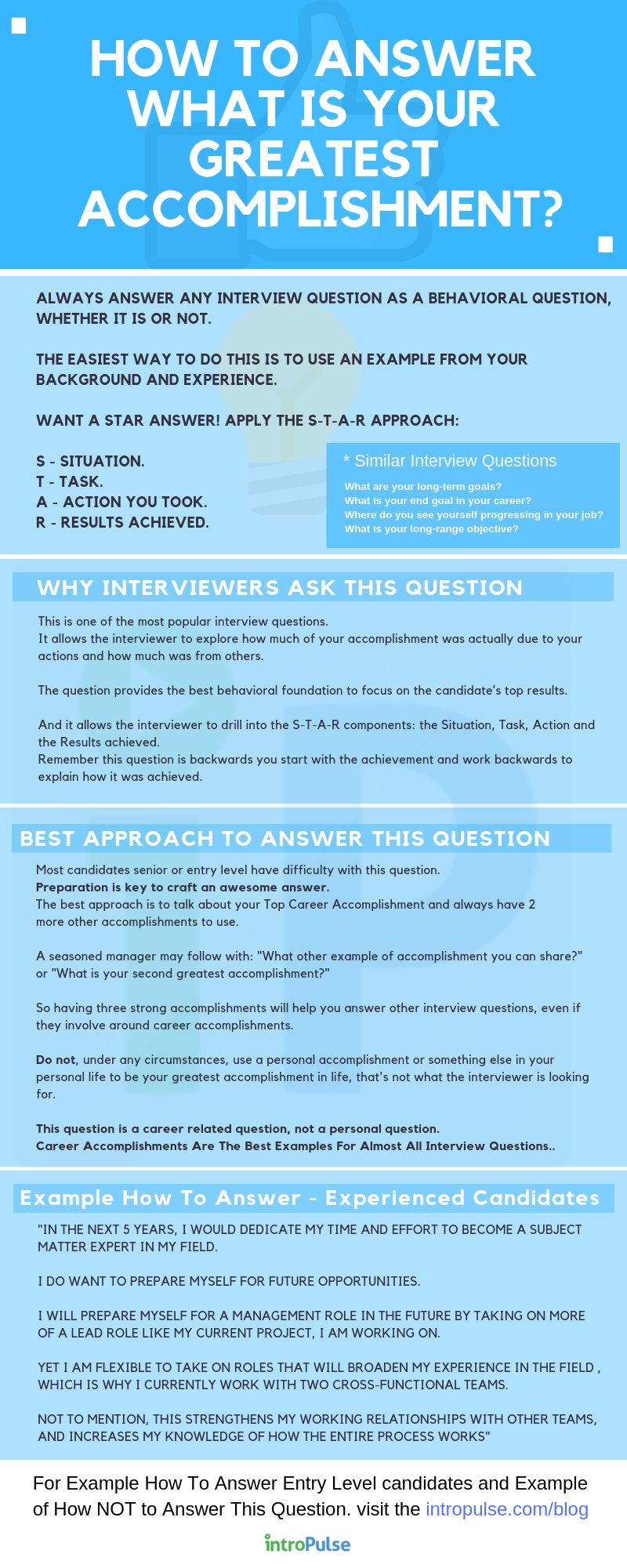 Infographic - How To Answer job interview question — What is