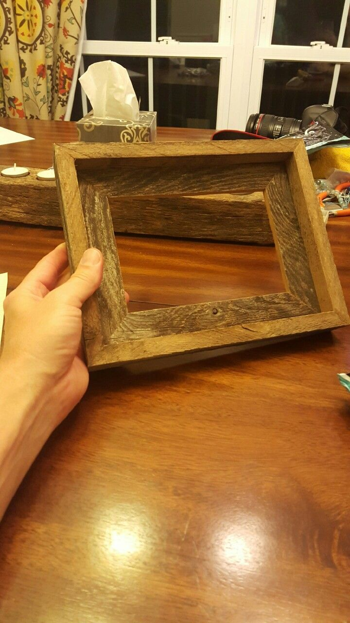 Reclaimed picture frame barnwood frame rustic frame weathered reclaimed picture frame barnwood frame rustic frame weathered cedar cedar picket jeuxipadfo Choice Image