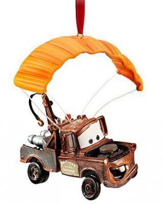 Disney Cars Christmas Decorations.Mater With Parachute Ornament From Cars 2 Christmas