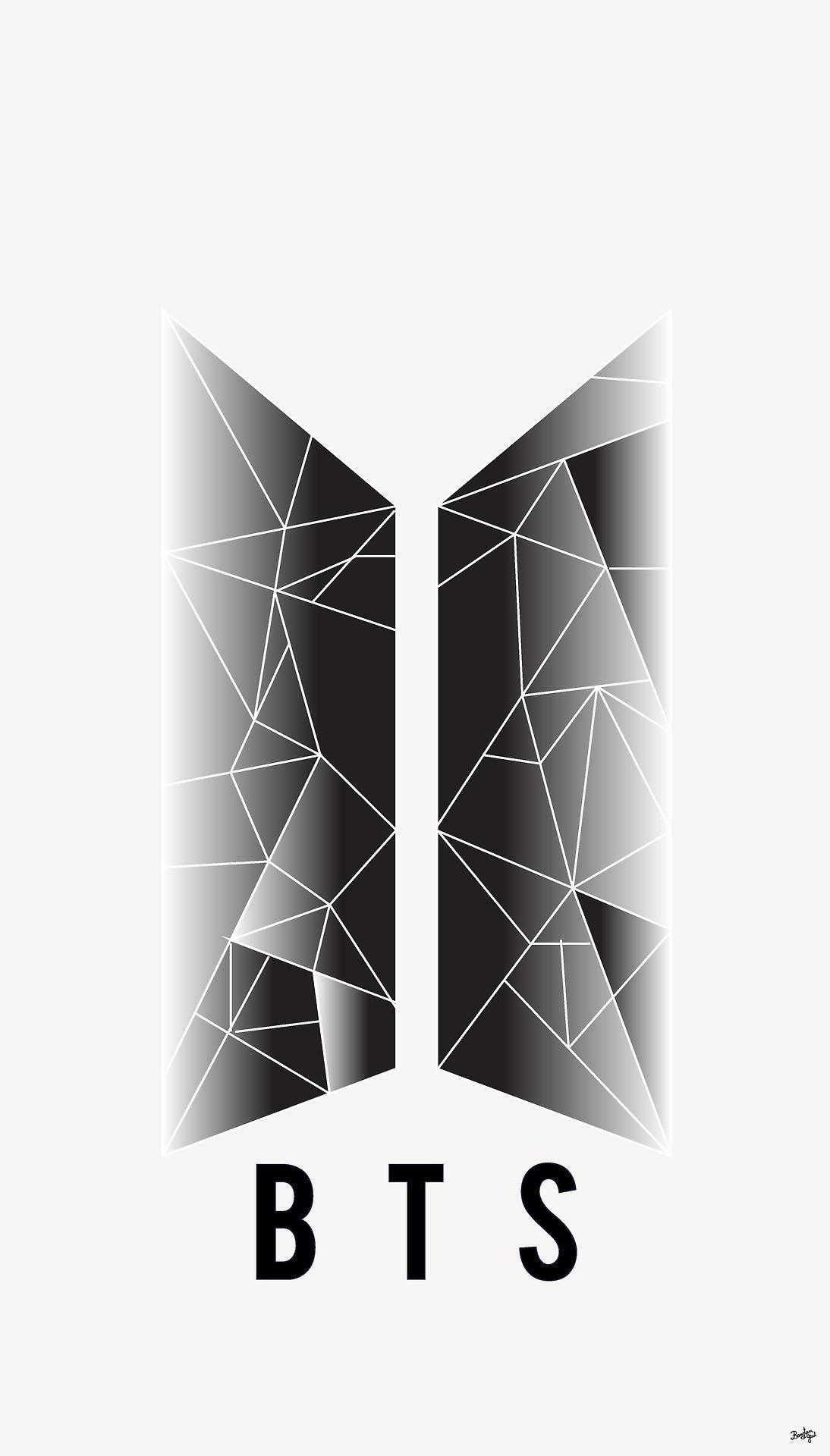 Bts Logo Black And White : black, white, 1094x1920, Wallpaper, Group, (42+), Wallpaper,, Backgrounds,, Jimin