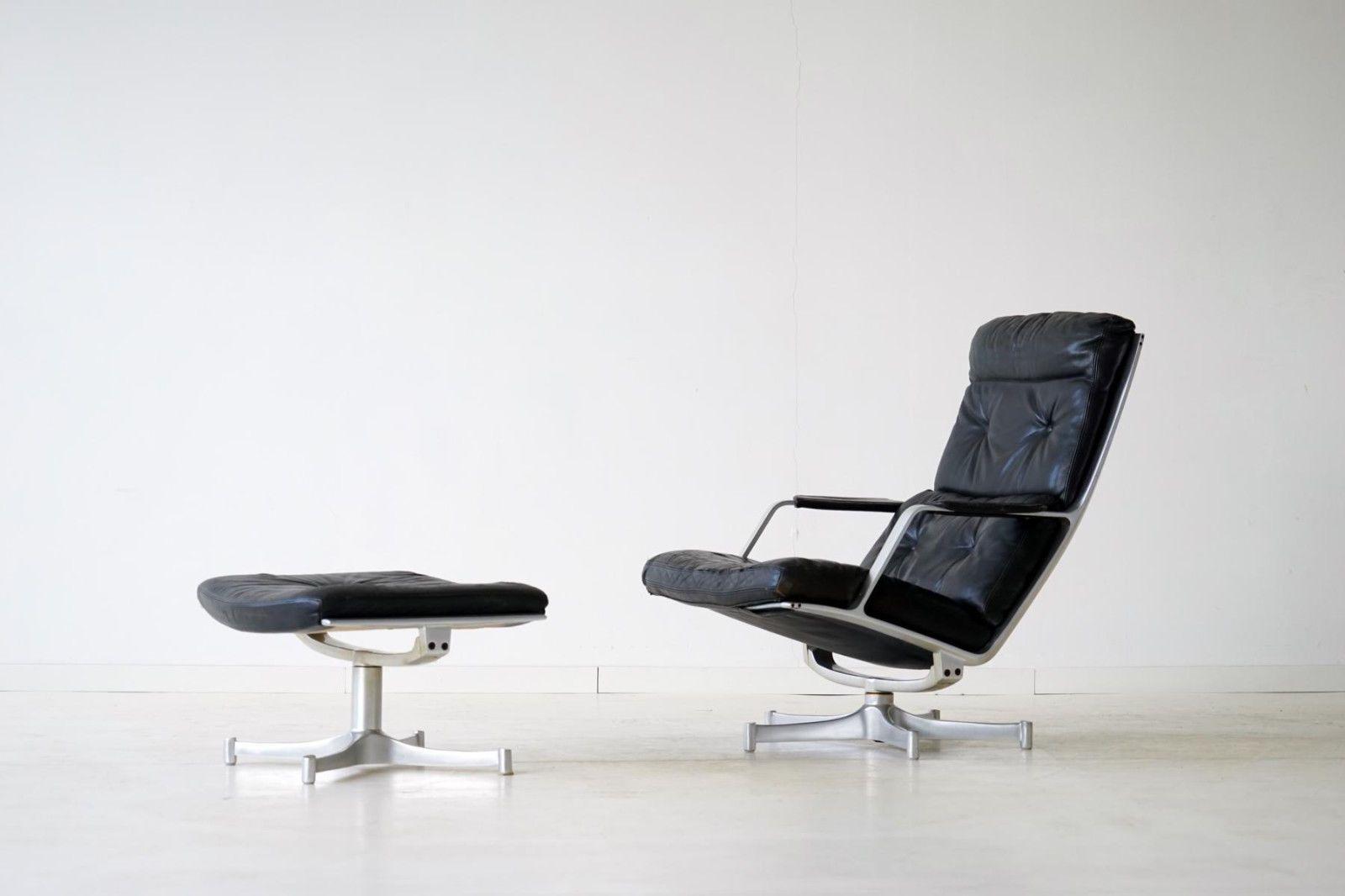 De Sede Leder Lounge Chair Relax Sessel Drehbar Hocker Ottomane Hocker Ottomane Lounge Chair Ottomane